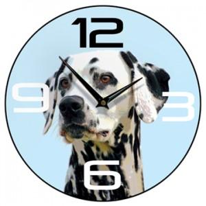 Dalmatian Wall Clock Blue