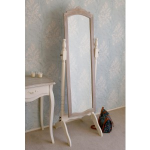 Cream Casamore Cheval Mirror from the Devon Indoor Furniture Range