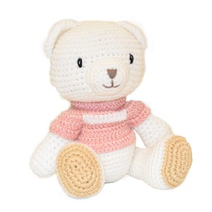 Bear Knitted Soft Toy Pink