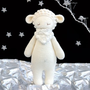 Sheep Knitted Soft Toy White