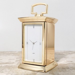 Gold Finish Carriage Clock
