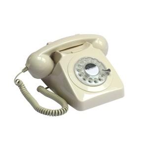 Retro Rotary Telephone - Ivory
