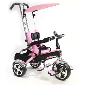 Baby Multi Function Pink Tricycle