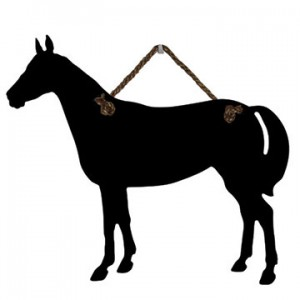 Horse Shape Chalk Board