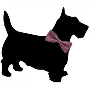 Scottish Terrier Shape Chalk Board