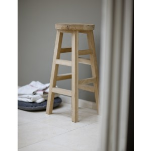 Raw Oak Tall Seating Stool