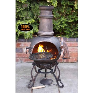 Cast Iron Toledo Medium Bronze Chimenea