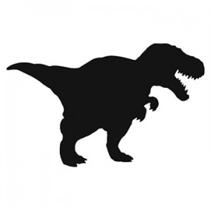 T-Rex Dinosaur Shape Chalk Board