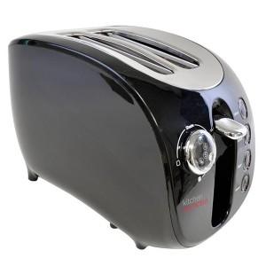 Black 2 Slice Wide Slot Toaster