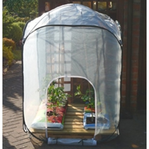 Pop-up Mesh Garden Extra Wide Greenhouse 1.25m x 1.25m x 1.85m high