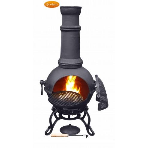 Extra Large Cast Iron Black Chimenea