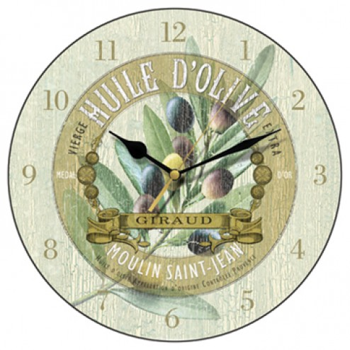 Huile d'Olive Wall Clock