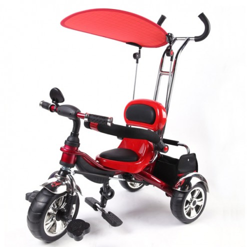 Baby Multi Function Red Tricycle