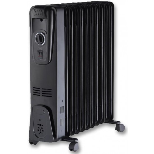 Black 2.5kW Oil Filled Radiator
