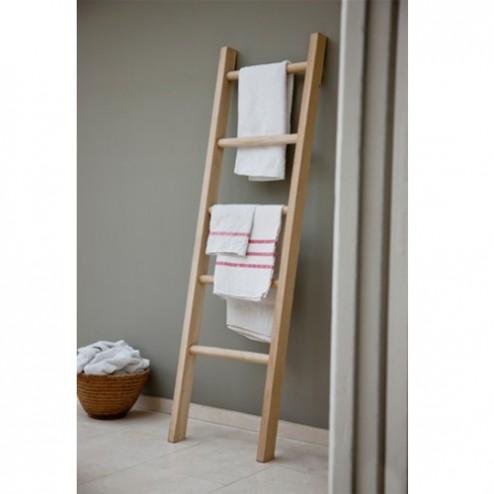 Raw Oak Towel Ladder Unit