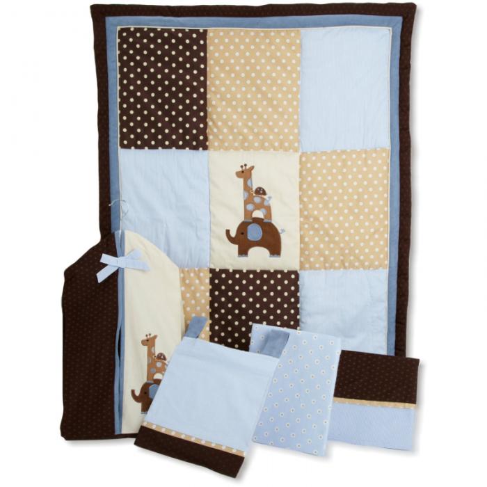 Modern Baby Jake Bedding Set In Soft Blue