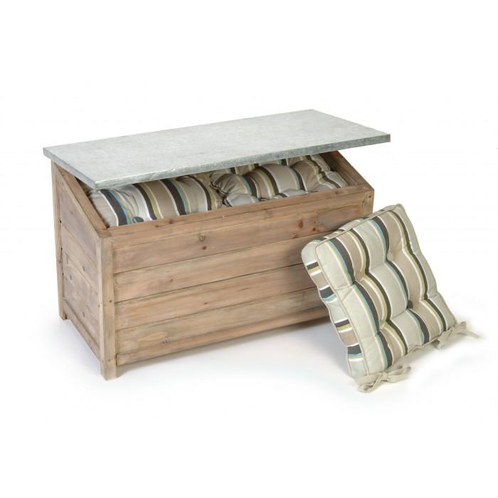 Weatherproof Outdoor Garden Wooden Storage Box Chest Unit