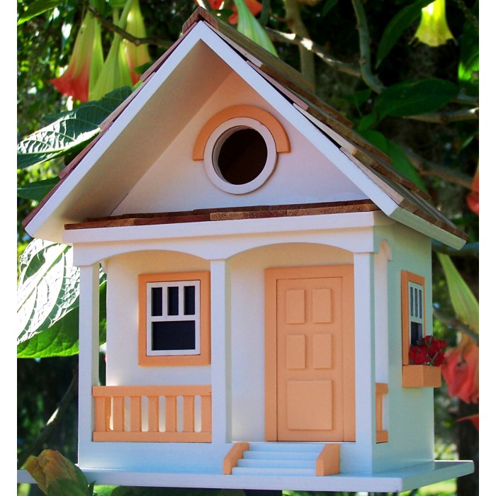 Peaches And Cream Cottage Style Novelty Bird House
