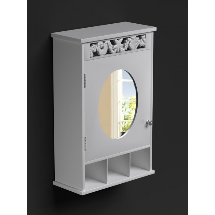 st tropez white mirrored bathroom cabinet