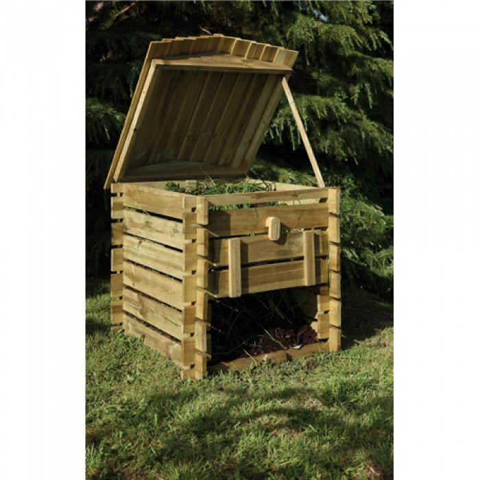 Decorative Wooden Versatile Beehive Shaped Compost Bin