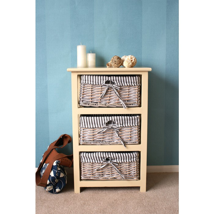 Selsey 3 Drawer Wicker Storage Unit; Back; Selsey Chest Of Drawers ...