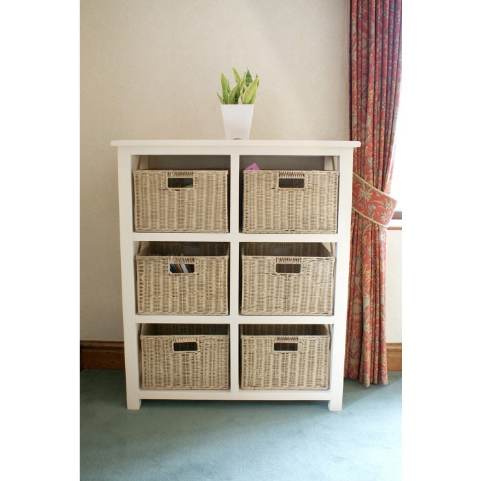 Image Result For White Wooden Storage Cabinet With Wicker Baskets