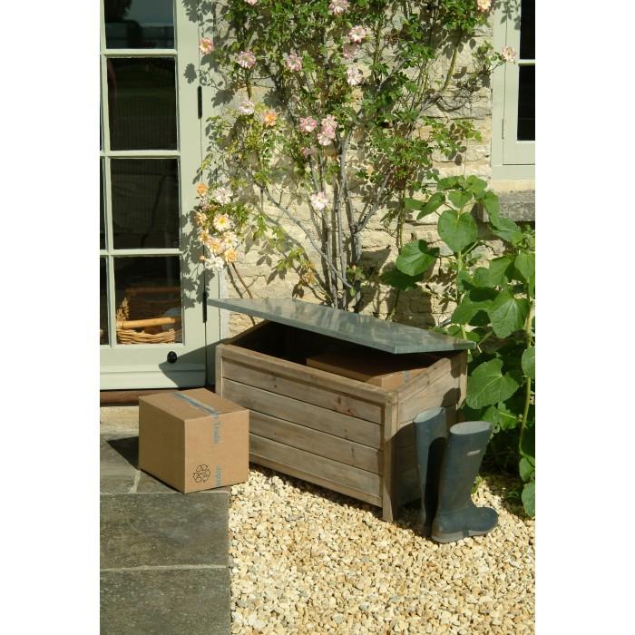 large outdoor wooden storage box unit leisure traders. Black Bedroom Furniture Sets. Home Design Ideas
