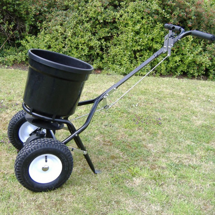 Handy Garden Push Lawn Spreader 50lbs Ideal For