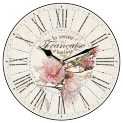Rose Blooms Wall Clock