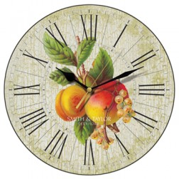 Antiqued Apricots Wall Clock