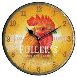 Puller's Poultry Feed Wall Clock