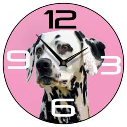 Dalmatian Wall Clock Pink