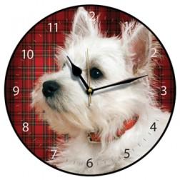Tartan Westie Wall Clock