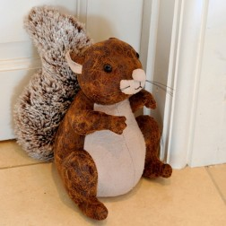 Large Squirrel Doorstop in Faux Leather