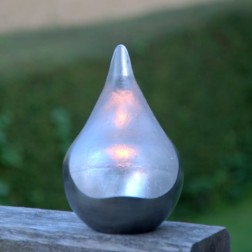 Large Silver Teardrop Tealight Holder