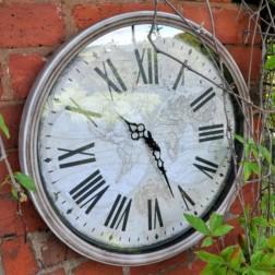 Vintage Round Garden Clock Large