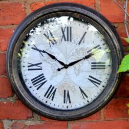 Vintage Round Garden Clock Small
