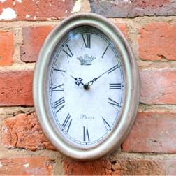 Paris Oval Garden Clock