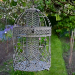 Antique Finish Birdcage Feeder
