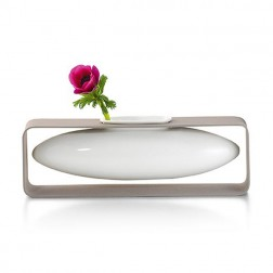 Lateral Floating Porcelain Vase