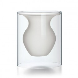 Small White Glass Vase