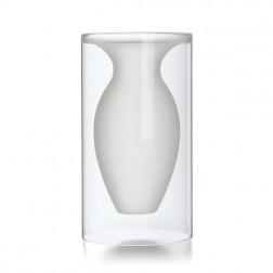 Medium White Glass Vase