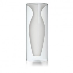 Large White Glass Vase