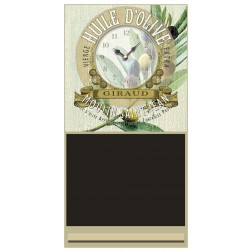 Huile d'Olive Clock Chalk Board