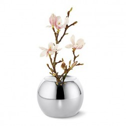Medium Round Silver Vase