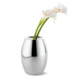 Large Round Silver Vase