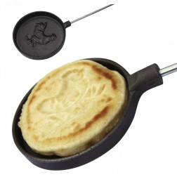 Long Handled  Cast Iron Pancake Pan