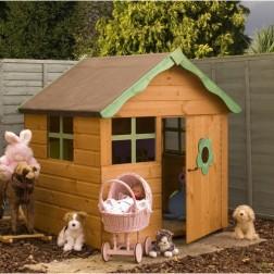 Candy Outdoor 4' x 4' Wooden Children's Playhouse