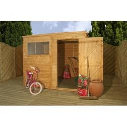 Coledale 8' x 6' Shiplap Pent Wooden Garden Shed