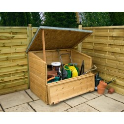 Kirkby Shiplap Outdoor Wooden Storage Chest